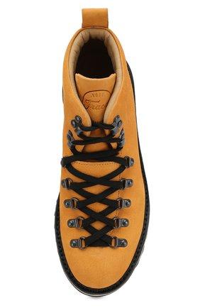Мужские кожаные ботинки FRACAP желтого цвета, арт. M120/RIPPLE/NABUK | Фото 5