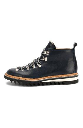 Мужские кожаные ботинки FRACAP синего цвета, арт. M120/RIPPLE/NEBRASKA/GUARD.ZIGZAG | Фото 3