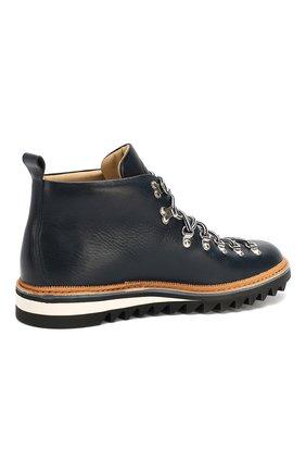 Мужские кожаные ботинки FRACAP синего цвета, арт. M120/RIPPLE/NEBRASKA/GUARD.ZIGZAG | Фото 4