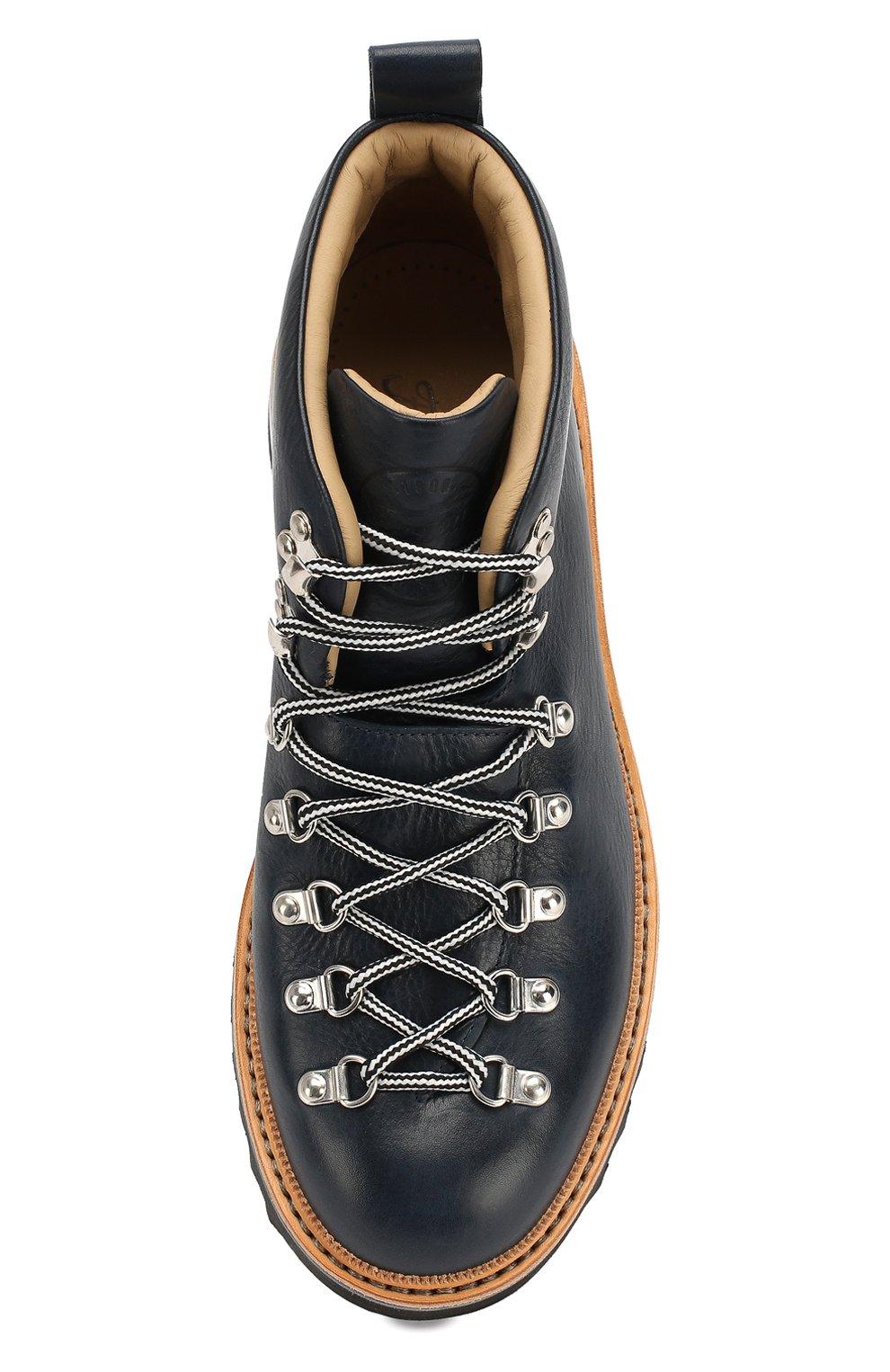 Мужские кожаные ботинки FRACAP синего цвета, арт. M120/RIPPLE/NEBRASKA/GUARD.ZIGZAG | Фото 5