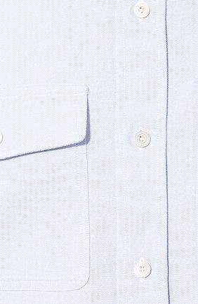 Мужская хлопковая рубашка TOM FORD голубого цвета, арт. 6FT092/94PHRK | Фото 5