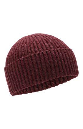 Мужская кашемировая шапка BRUNELLO CUCINELLI темно-коричневого цвета, арт. M2293900 | Фото 1