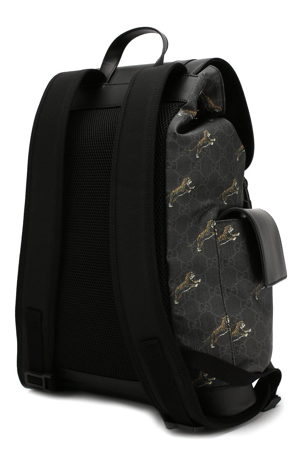 Мужской рюкзак gg supreme GUCCI черного цвета, арт. 495563/G02CX | Фото 3