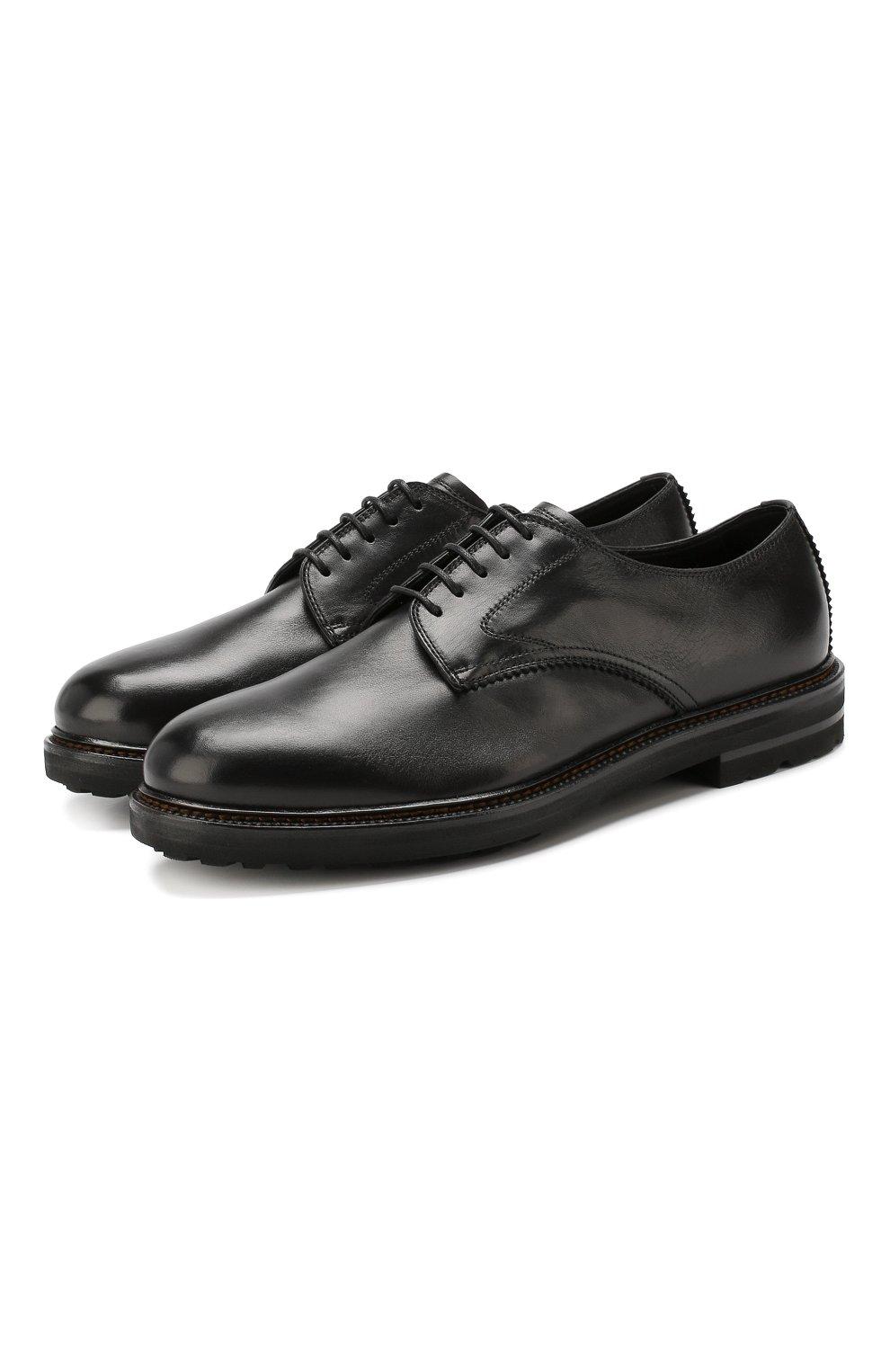 Мужские кожаные дерби H`D`S`N BARACCO черного цвета, арт. 59217.2* | Фото 1
