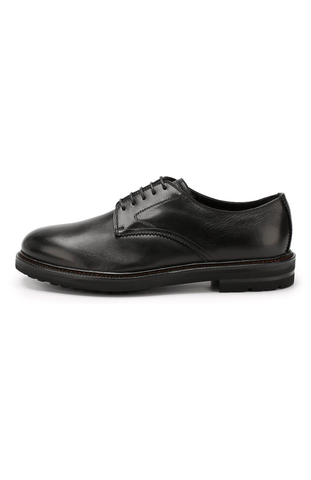 Мужские кожаные дерби H`D`S`N BARACCO черного цвета, арт. 59217.2* | Фото 3
