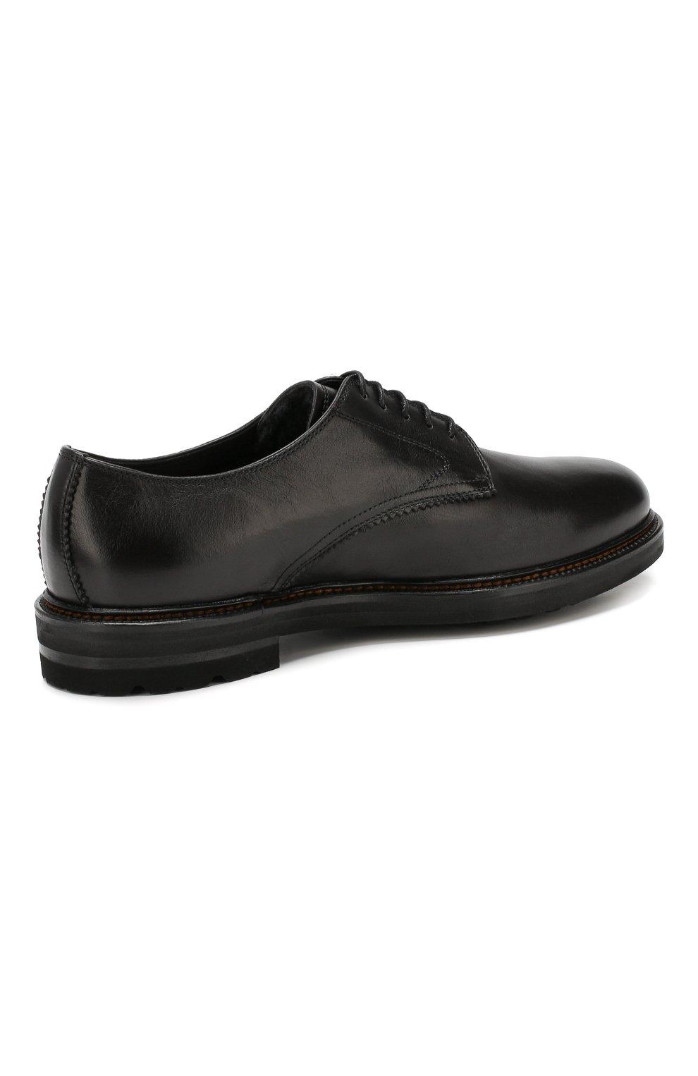 Мужские кожаные дерби H`D`S`N BARACCO черного цвета, арт. 59217.2* | Фото 4