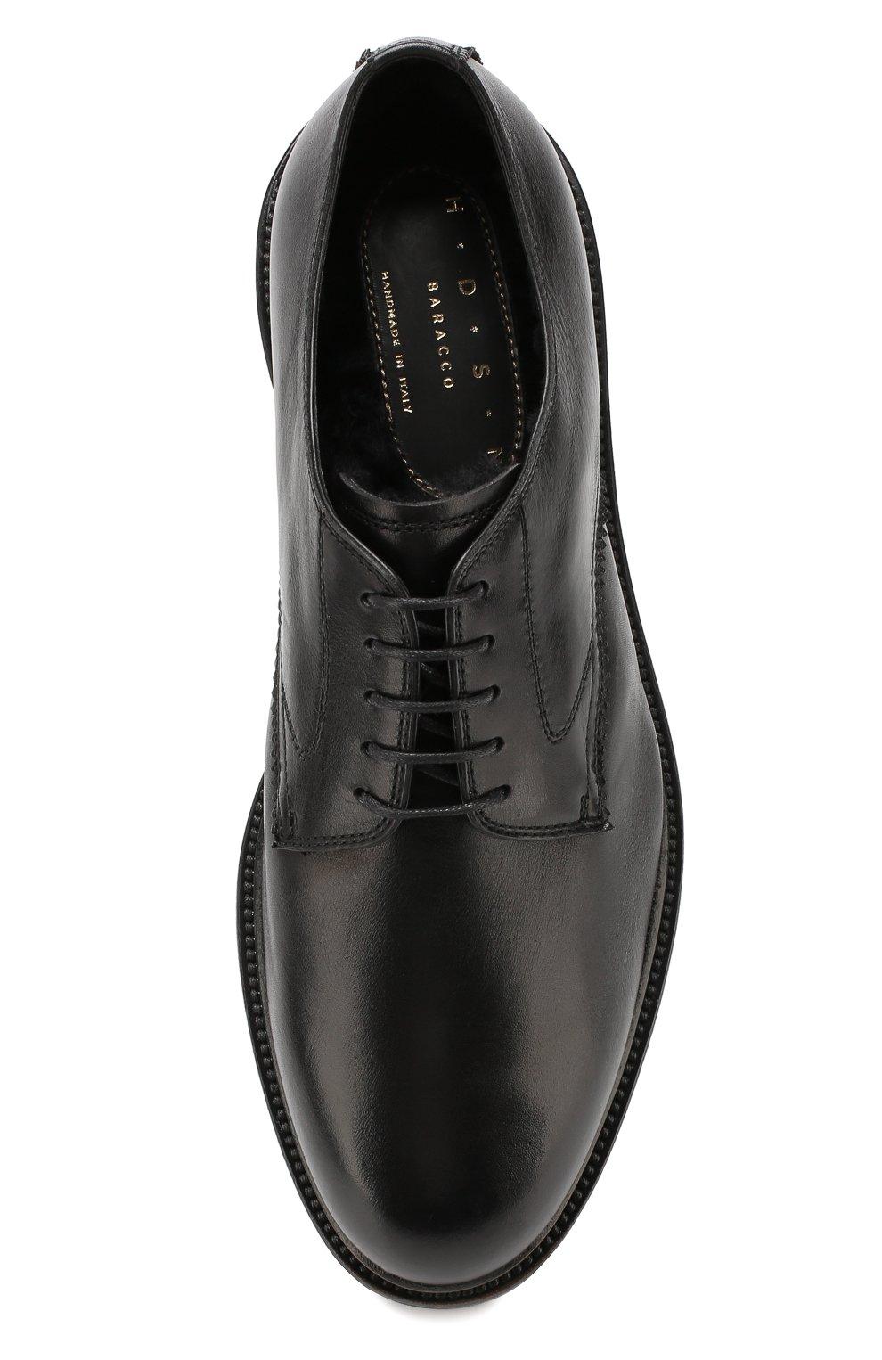 Мужские кожаные дерби H`D`S`N BARACCO черного цвета, арт. 59217.2* | Фото 5