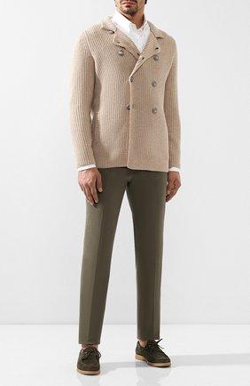 Мужские хлопковые брюки BRUNELLO CUCINELLI хаки цвета, арт. M218DB1150 | Фото 2