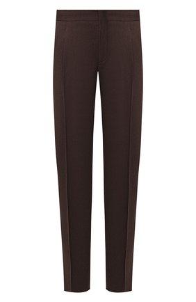 Мужской шерстяные брюки Z ZEGNA коричневого цвета, арт. 6ZF029/73GDC1 | Фото 1