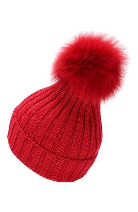 Женский шерстяная шапка MONCLER красного цвета, арт. E2-093-00219-00-03510 | Фото 2
