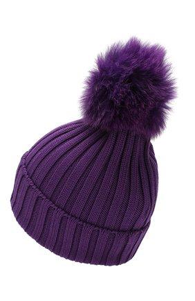 Женский шерстяная шапка MONCLER фиолетового цвета, арт. E2-093-00219-00-03510   Фото 2