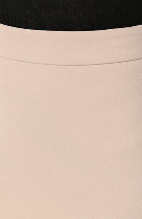 Женская хлопковая юбка BOSS бежевого цвета, арт. 50414346 | Фото 5