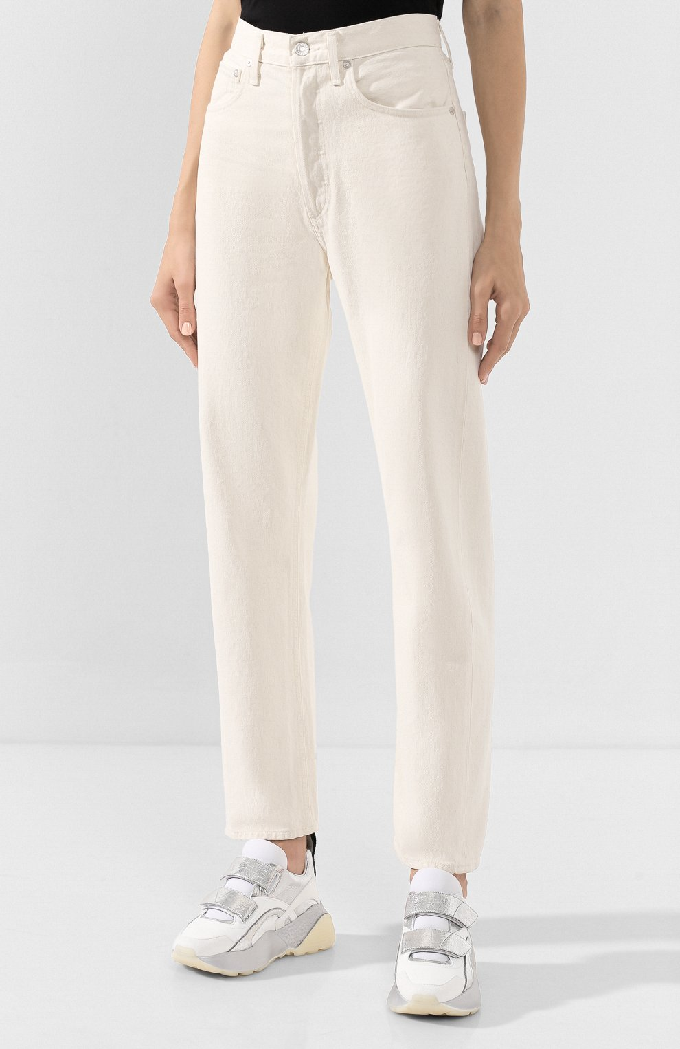 Женские джинсы AGOLDE белого цвета, арт. A069B-1183 | Фото 3