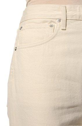Женские джинсы AGOLDE белого цвета, арт. A069B-1183 | Фото 5