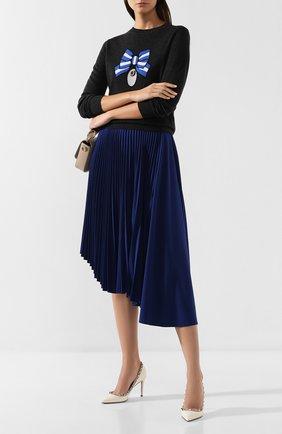 Женская плиссированная юбка MARKUS LUPFER синего цвета, арт. SK447 | Фото 2