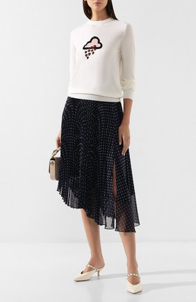 Женская шерстяной пуловер MARKUS LUPFER белого цвета, арт. KN2677 | Фото 2