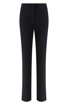 Женские брюки VICTORIA, VICTORIA BECKHAM темно-синего цвета, арт. TRVV 132 PAW19 D0UBLE FACE STRETCH | Фото 1