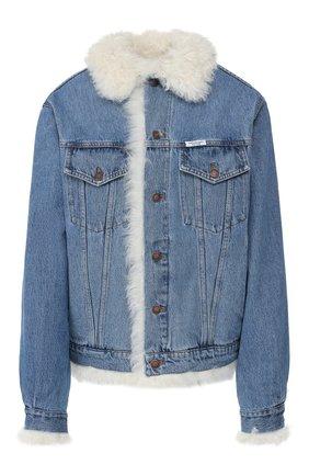 Женская джинсовая куртка FORTE DEI MARMI COUTURE голубого цвета, арт. FFW19-1107 | Фото 1