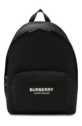 Мужской текстильный рюкзак BURBERRY черного цвета, арт. 8016109 | Фото 1