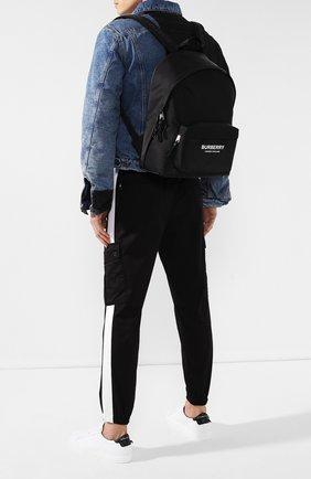 Мужской текстильный рюкзак BURBERRY черного цвета, арт. 8016109 | Фото 2