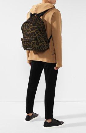 Мужской текстильный рюкзак BURBERRY хаки цвета, арт. 8016198 | Фото 2
