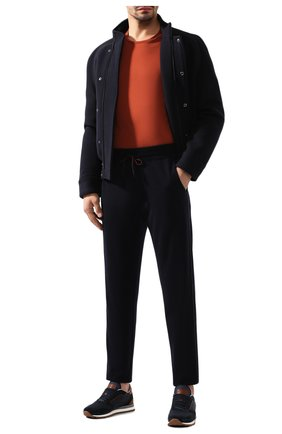 Мужская лонгслив из шелка и хлопка LORO PIANA оранжевого цвета, арт. FAF6129 | Фото 2