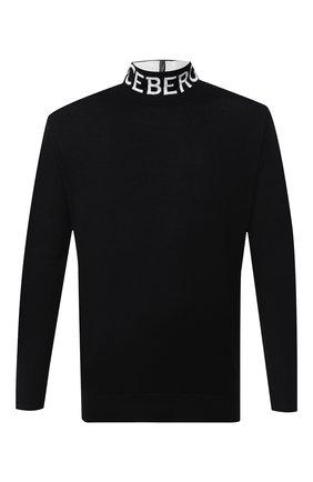 Мужской шерстяная водолазка ICEBERG черного цвета, арт. 19I I1P0/A003/7009 | Фото 1