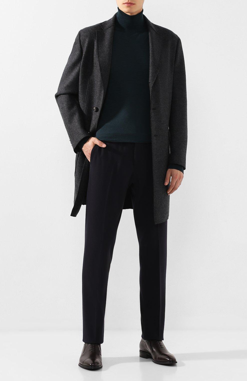 Мужские кожаные лоферы ALDO BRUE темно-коричневого цвета, арт. AB604FPH-NL | Фото 2