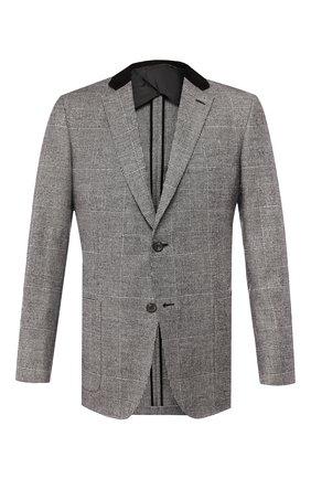 Мужской пиджак из смеси шерсти и кашемира BRIONI серого цвета, арт. RGK10L/08A7X/TALETE | Фото 1