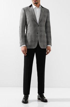 Мужской пиджак из смеси шерсти и кашемира BRIONI серого цвета, арт. RGK10L/08A7X/TALETE | Фото 2