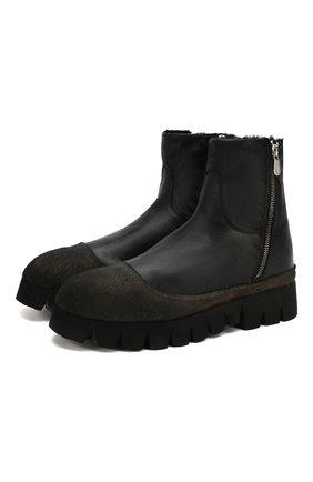 Мужские кожаные сапоги ROCCO P. черного цвета, арт. 9303/BISH0ND0 | Фото 1