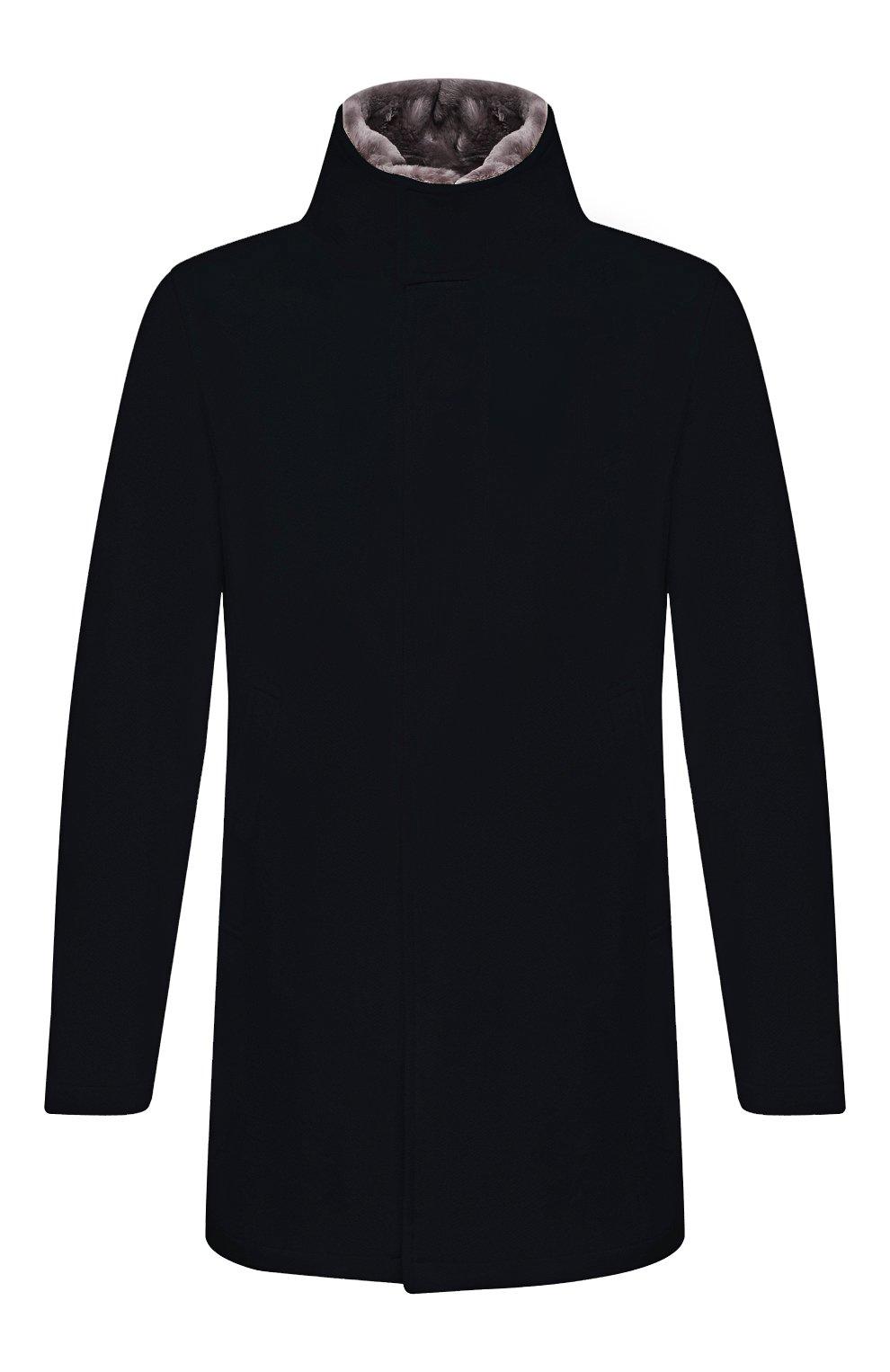 Мужской шерстяное пальто HERNO темно-синего цвета, арт. CA0071U/39601   Фото 1