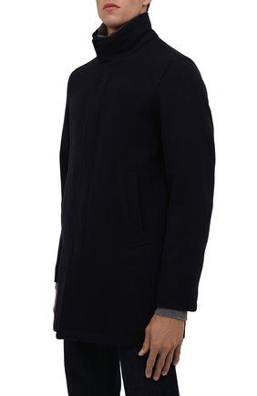 Мужской шерстяное пальто HERNO темно-синего цвета, арт. CA0071U/39601   Фото 3