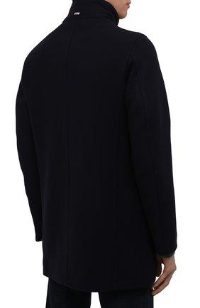 Мужской шерстяное пальто HERNO темно-синего цвета, арт. CA0071U/39601   Фото 4