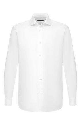 Мужская хлопковая сорочка CORNELIANI белого цвета, арт. 84P150-9811211/00 | Фото 1
