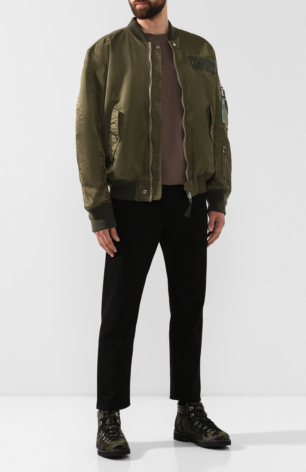 Мужские кожаные ботинки FRACAP зеленого цвета, арт. M127/R0CCIA/P0NY/IMB. | Фото 2