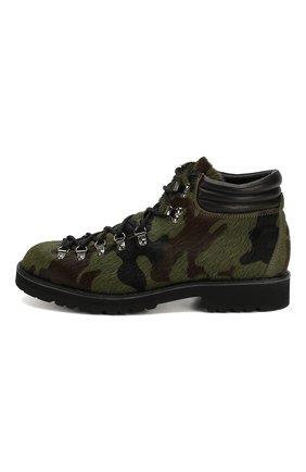 Мужские кожаные ботинки FRACAP зеленого цвета, арт. M127/R0CCIA/P0NY/IMB. | Фото 3