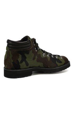 Мужские кожаные ботинки FRACAP зеленого цвета, арт. M127/R0CCIA/P0NY/IMB. | Фото 4