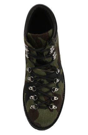 Мужские кожаные ботинки FRACAP зеленого цвета, арт. M127/R0CCIA/P0NY/IMB. | Фото 5