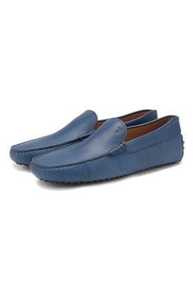 Мужские кожаные мокасины gommini TOD'S синего цвета, арт. XXM0GW0S570NLK | Фото 1