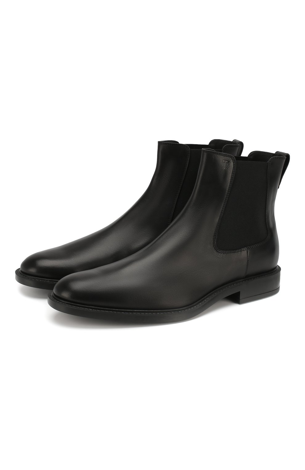 Мужские кожаные челси TOD'S черного цвета, арт. XXM45A00P20D90 | Фото 1