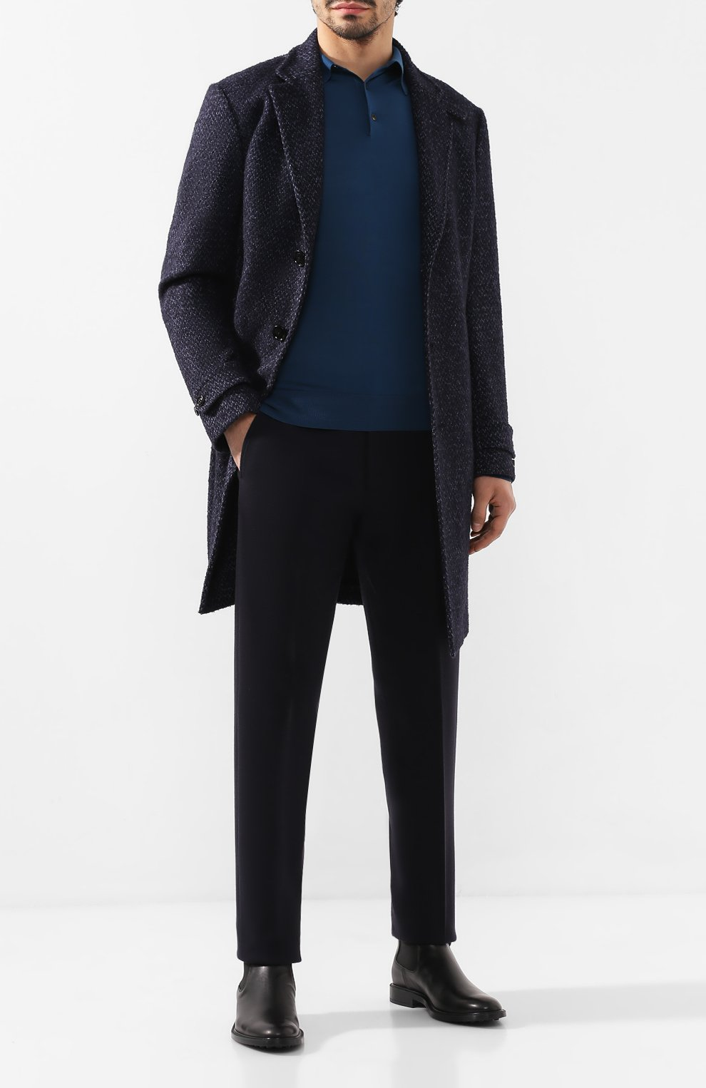 Мужские кожаные челси TOD'S черного цвета, арт. XXM45A00P20D90 | Фото 2
