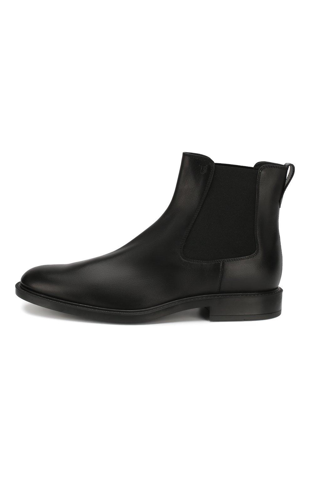 Мужские кожаные челси TOD'S черного цвета, арт. XXM45A00P20D90 | Фото 3