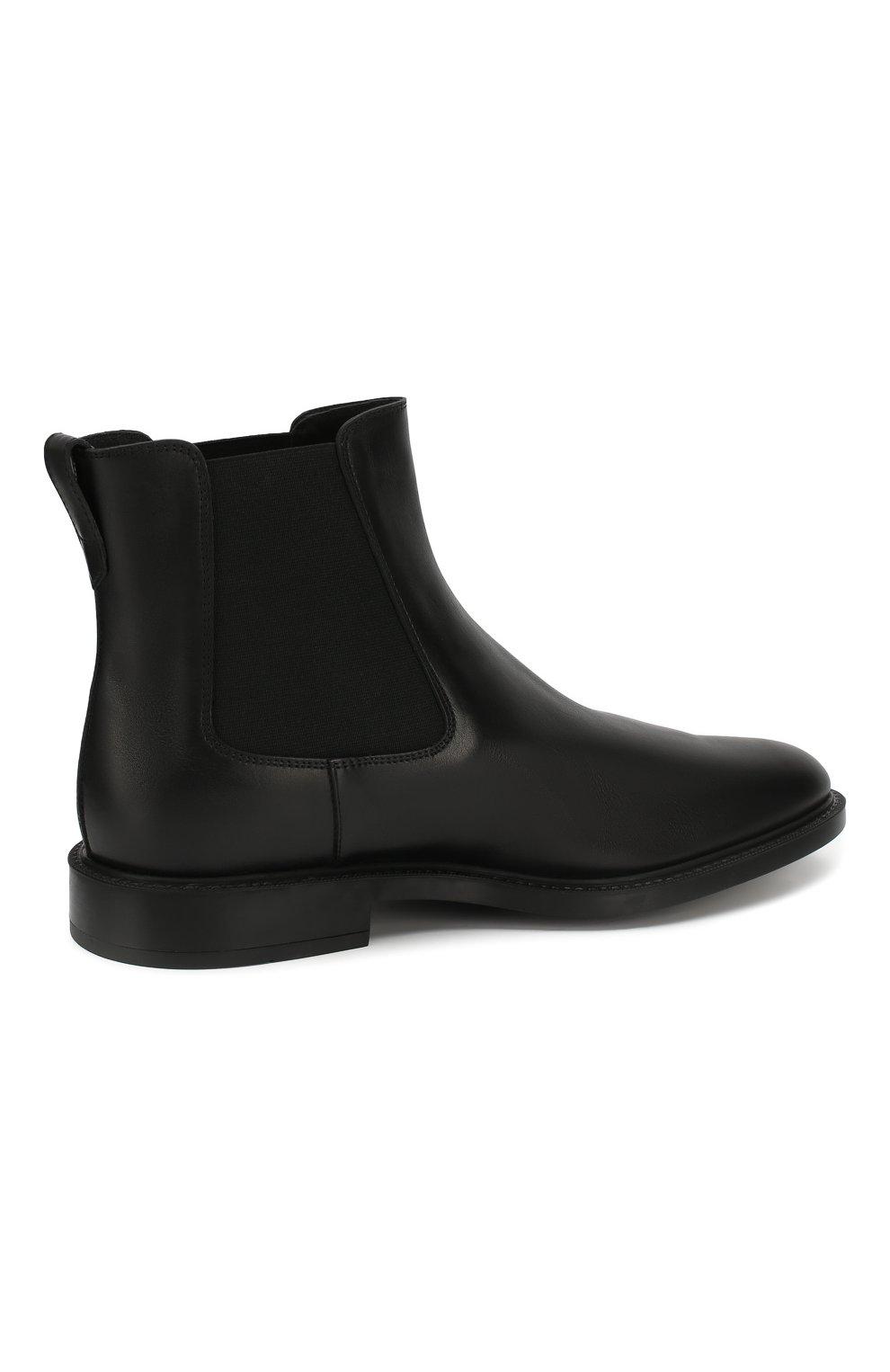 Мужские кожаные челси TOD'S черного цвета, арт. XXM45A00P20D90 | Фото 4
