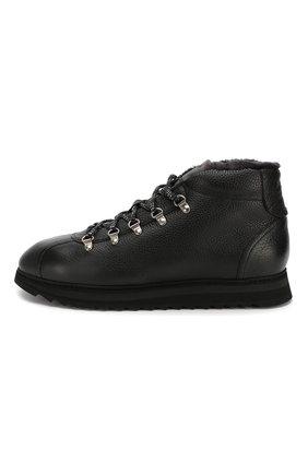 Мужские кожаные ботинки DOUCAL'S черного цвета, арт. DU1793WINNUM0192N00 | Фото 3