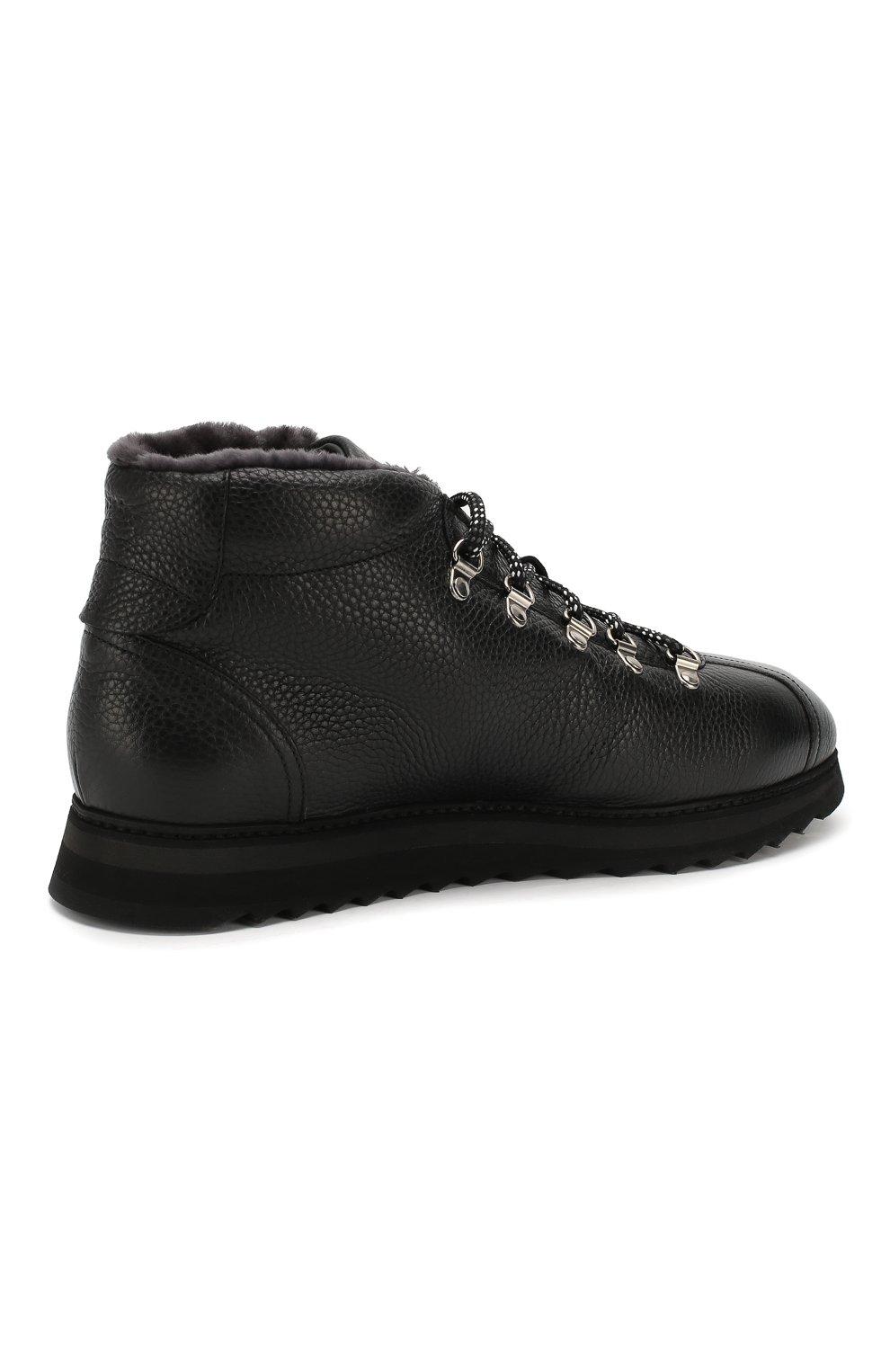 Мужские кожаные ботинки DOUCAL'S черного цвета, арт. DU1793WINNUM0192N00 | Фото 4