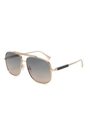 Мужские солнцезащитные очки TOM FORD золотого цвета, арт. TF669 28B | Фото 1