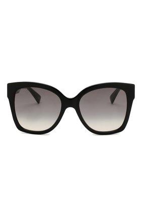 Женские солнцезащитные очки GUCCI черного цвета, арт. GG0459 001 | Фото 3