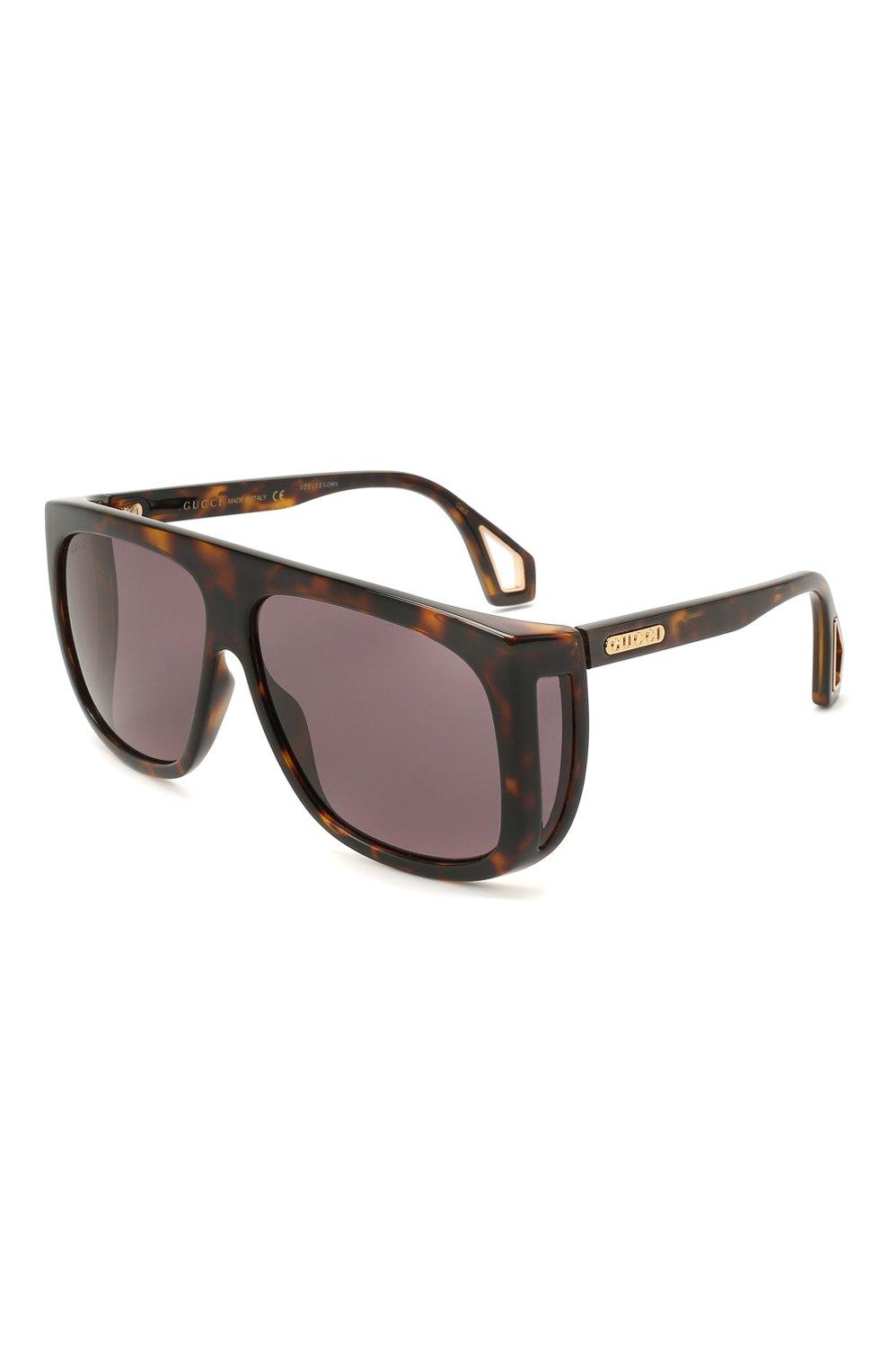 Женские солнцезащитные очки GUCCI коричневого цвета, арт. GG0467 003 | Фото 1