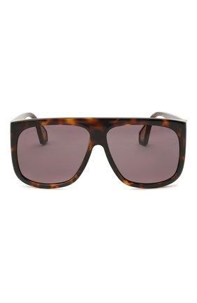 Женские солнцезащитные очки GUCCI коричневого цвета, арт. GG0467 003 | Фото 3